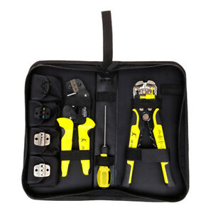 Multifunctional Ratchet Crimping Tool Wire Strippers Terminals Pliers Kit New