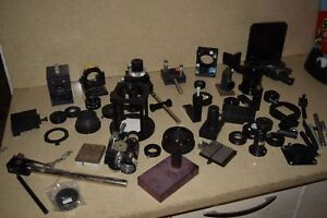 Oriel Mirror Mount Post Rod Stage Oddball Optical Lot 55 Pieces br5