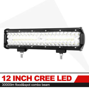 12 Inch Work Light Bar Led Spot Flood Beam Offroad Fog Driving Light Us Stock