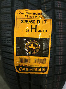 1 New 225 50 17 98h Continental Conti Winter Contact Ts830p Snow Tire