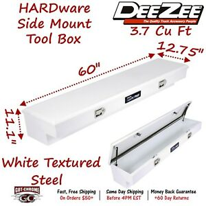 Dz 8760s Dee Zee Tool Box Hardware Series Side Mount White Steel 60