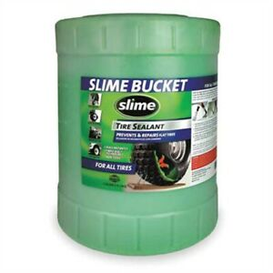 Slime Tire Sealant 5 Gallon Container Repairs Punctures Up To 1 4 Instantly