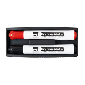 8 Ea Eraser Whiteboard Magnetic W Two Markers