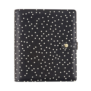 Black Speckle A5 Planner Cover