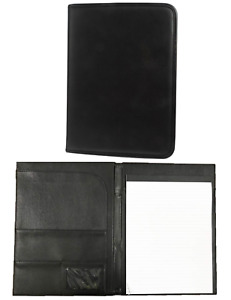 22 X Collins A4 Black Faux Leather Executive Conference Folder Folio Pockets Pad