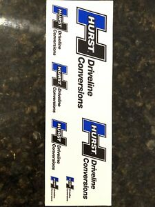 Hurst Driveline Decals Stickers Quanity 1