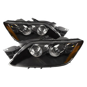 Fits 07 11 Mazda Cx 7 Halogen Black Housing Headlights Set With Performance Lens