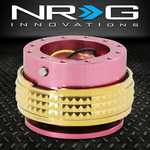 Nrg 6 Bolt Aluminum Steering Wheel Quick Release Gen 2 1 Pink Gold Pyramid Ring