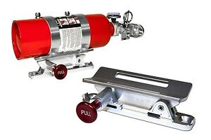 Fire Extinguisher Mount Silver Mustang And Classic Car Safety Scott Drake