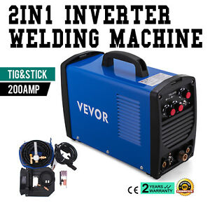 Tig 205s 200a Tig Stick Arc Dc Welder Portable Stable Dual Voltage Free Shipping