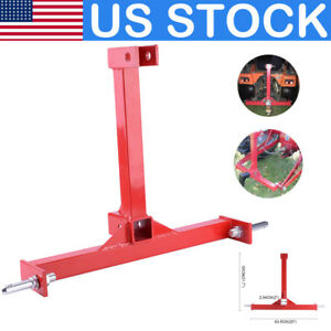 Us 55x63cm Drawbar Tractor Trailer Hitch Receiver Attachment For 3 Point Cat 1