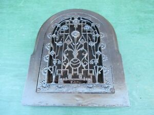 Vintage Victorian Cast Iron Wall Floor Grille 13x17 Heat Grate Register Dome
