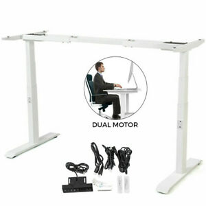 Electric Sit stand Standing Desk Frame Dual Motor Home Office Height Ajustable