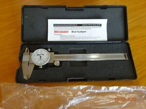 Westward Dial Caliper 8 4ku75 In Carrying Case