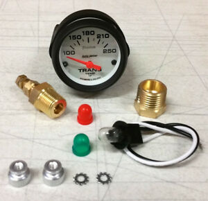 Sale Autometer Phantom Electric Transmission Temp 100 250 Deg F 52mm Gauge