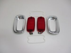 1960 1966 Chevy Truck Fleetside Led Stopturn Tail Lights Bezels And Gaskets