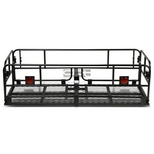 2 Hitch Hauler Receiver Collapsable Mild Steel Cargo Basket Baggage Carrier Rack