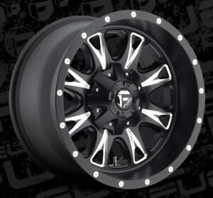 Fuel 18x10 Throttle D513 5x4 5 5x5 Et 12 Black Milled Wheels Set Of 4