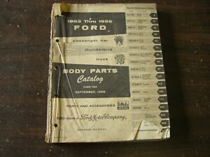 Oem Ford 1953 1957 Master Parts Book Fairlane Truck Thunderbird 1954 1955 1956