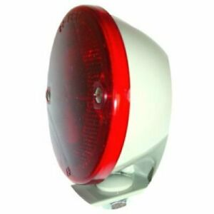 Tail Light Assembly 6v Round Restoration Quality Duolamp With Bracket