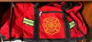 Fire And Safety And Ems Red Turnout Gear Bag