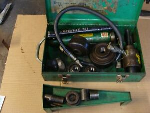 Greenlee Hydraulic Knockout Punch Driver Set 7646 3 4 4 In Metal Case