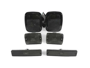 6pcs Smoke Bumper Signal Fender Side Marker Tail Lights For Jeep Wrangler Yj