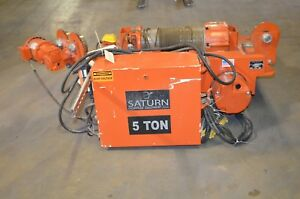 Saturn 5 Ton Electric Hoist 460 V 15 5 Fpm With Pendent