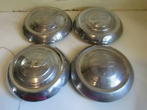 Vintage Set Of 4 1951 1952 1953 Chevy Dog Dish Hubcaps 9 1 2