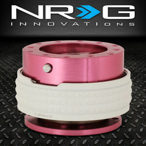 Nrg 6 Bolt Aluminum Steering Wheel Quick Release Gen 2 1 Pink Glow In Dark Ring