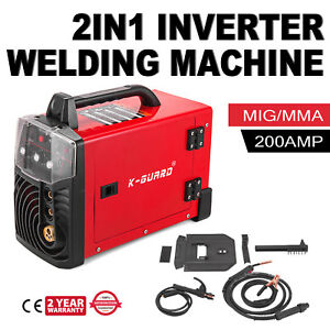 200a Mig Mag Mma arc Inverter Welding Machine Electrode Red Stable Great