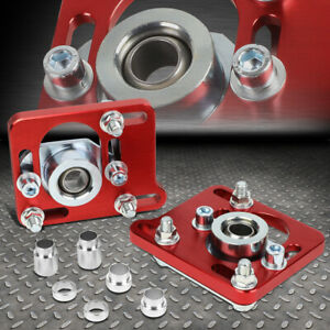 For 94 04 Mustang Red 2 5 Adjustable Camber Caster Plates Coilover Alignment