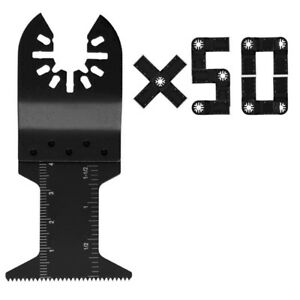 50 Black Quick Release Multi Tool Saw Wood Blades For Porter Cable Dewalt Dremel