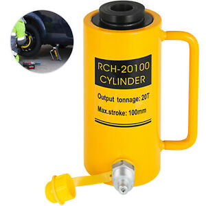 20 Tons 4 Hollow Hydraulic Cylinder Jack Localfast Safe 100mm 4inch Stroke Ram