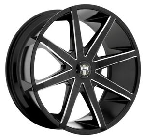 22x9 5 Dub Push S109 6x135 6x5 5 Et30 Black Milled Rims New Set Of 4
