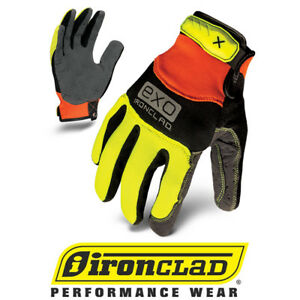 Ironclad Exo High Visibility Hvp Pro Grip Safety Work Gloves 12 Pair Bulk Case
