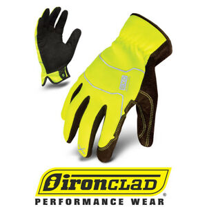 Ironclad Exo2 Hsy Hi vis Yellow Light Duty Safety Work Gloves 12 Pair Bulk Case