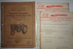 Massey Harris 44 Special Diesel Tractor Parts Catalog Manual Mh Original 5 54