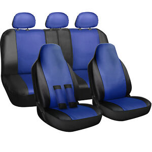 Seat Cover Complete Set For Car Truck Suv Van Pu Leather 10 Piece