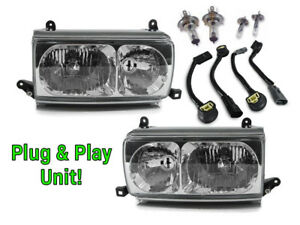Usa Plug Play Euro Crystal Glass Headlights For 91 97 Toyota Land Cruiser Fj80