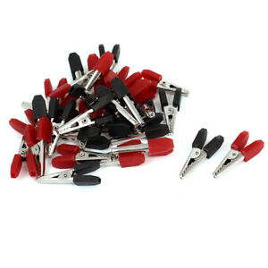 32pcs Alligator Clip Terminal Test Electrical Battery Crocodile Clamp Red Black