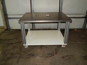 Machined Steel Top Work Table 48 1 4 48 25 X 38 1 2 38 5