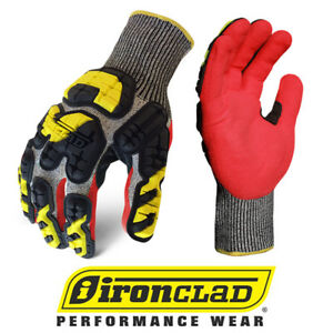 Ironclad Indi kc5 Knit Cut 5 Oil Gas Impact Safety Gloves 12 Pair Case