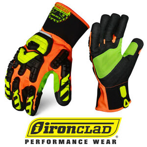Ironclad Indi rc5 Impact Rigger Cut 5 Oil Gas Safety Gloves 12 Pair Case