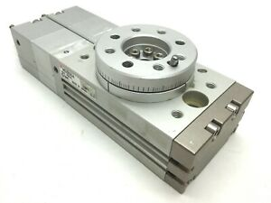 Smc Mszb20a Pneumatic Rotary Actuator 3 position Ports M5 Rotation 90