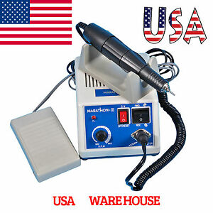 Marathon Dental Lab Electric Micromotor Unit 35k Rpm Motor Handpiece Usa Usps