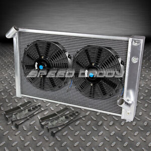 3 Row Aluminum Racing Radiator 2 Slim Fan 69 72 Chevy Bbc Corvette 454 7 0 7 4