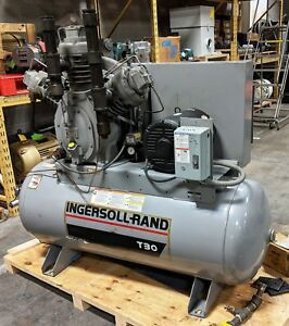Ingersoll Rand 20 Hp T30 Horizontal 2 stage Air Compressor 15te20