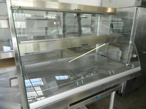 Hatco Grcd 3pd 45 5 Countertop Heated Display Case W Curved Glass 2 Levels