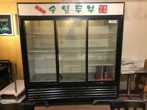 Used Good Condition True Gdm 69 Commercial Refrigerator Three Door Pick Up